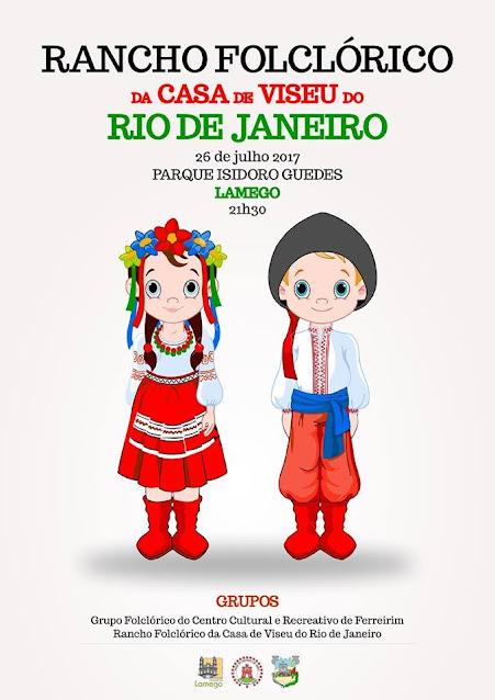 Grupos folclóricos de Portugal e Brasil juntam-se em Lamego