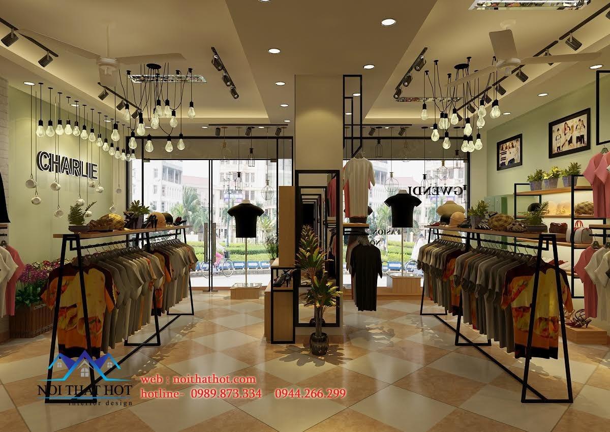 thiết kế shop thời trang hợp lý