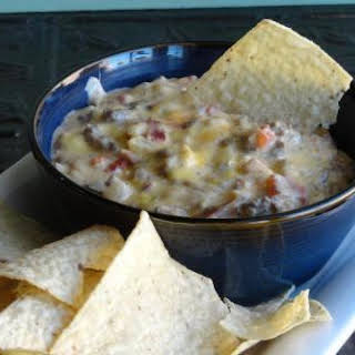Bacon Cheeseburger Queso Dip.