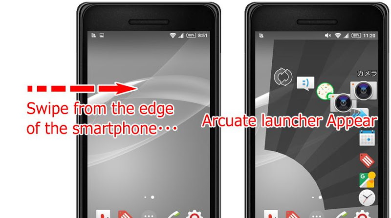 Quick Arc Launcher ( Smart One Swipe Launcher ) Screenshot 8