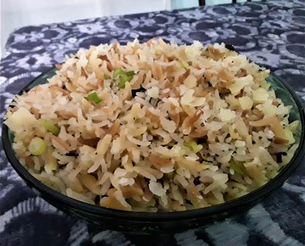 Orzo And Rice Pilaf With Garlic And Herbs