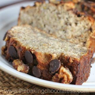 Perfect Chocolate Chip Banana Nut Bread