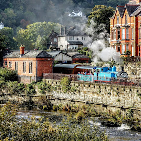 Thomas The Tank Engine  by Ian Popple - Buildings & Architecture Architectural Detail ( thomas the tank engine, train, steam, river,  )