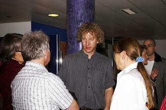 Photo: Pausengespräch mit Simon Dettwiler