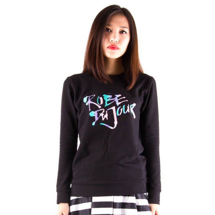 Gradient Logo Sweater Black by Meridian Street Sdn Bhd