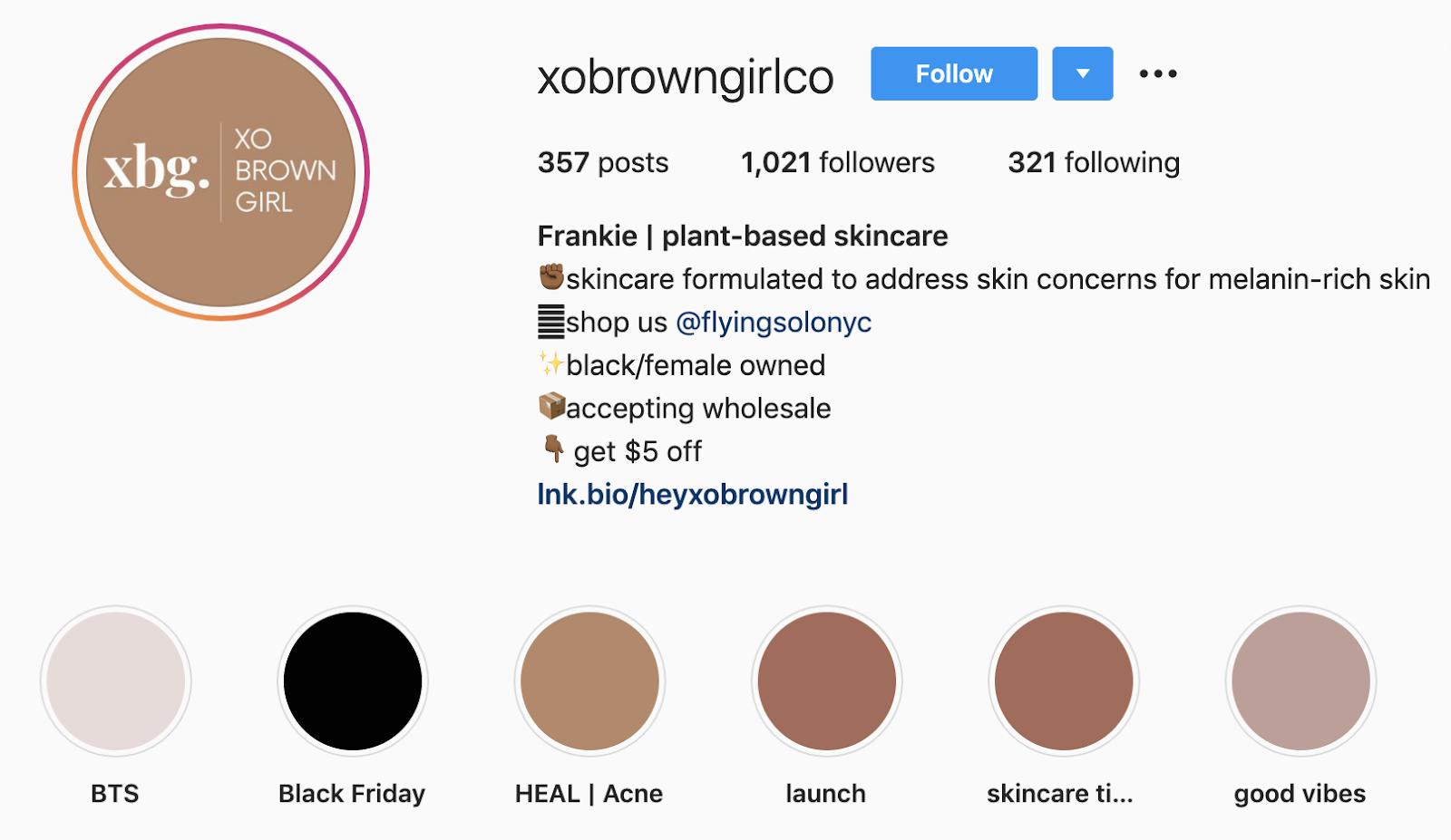 XO Brown Girl | Instagram Bio