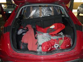 Photo: Alles verstaut in Carlos Wagen, da Montse ihrer kaputt war.