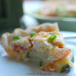 Tomato Zucchini Pie.