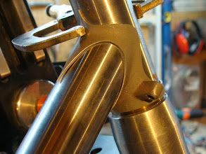 Photo: Down tube lug looking a bit more svelte as well.
