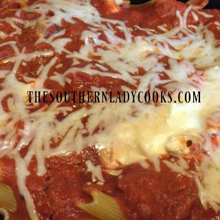 CHEESY CROCK POT ZITI.