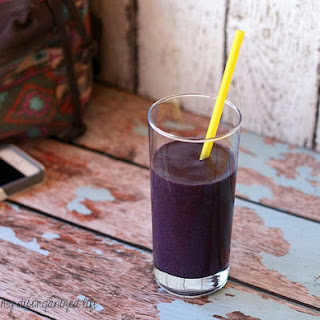 Black and Blue Berry Vanilla Protein Smoothie.
