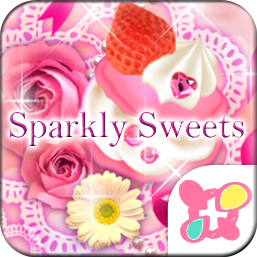 Pink Wallpaper Sparkly Sweets Icon