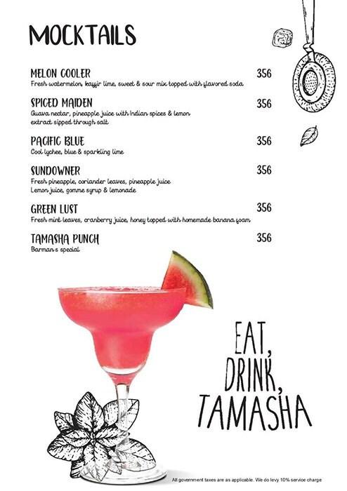 Tamasha menu 1