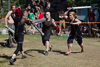 Photo: Bofferiturnauksen joukkotaistelua / Boffer fighting tournament, group combat