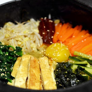 Vegetarian Korean Dolsot Bibimbap