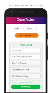 GroupInvites - Free WhatsApp, Telegram, FB Groups - náhled