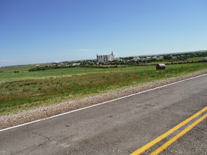Photo: Day 28 Murdo to Chamberlain SD 95 miles 3600' climbing: Kennebec, Tom Meyer's home town
