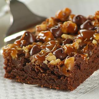 Chocolate Turtle Brownies.