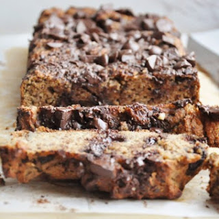 Peanut Butter Chocolate Chip Banana Bread (gluten-free, dairy free).