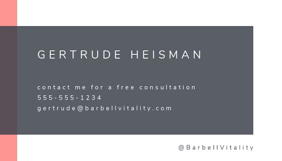 Heisman Trainer Back - Business Card Template