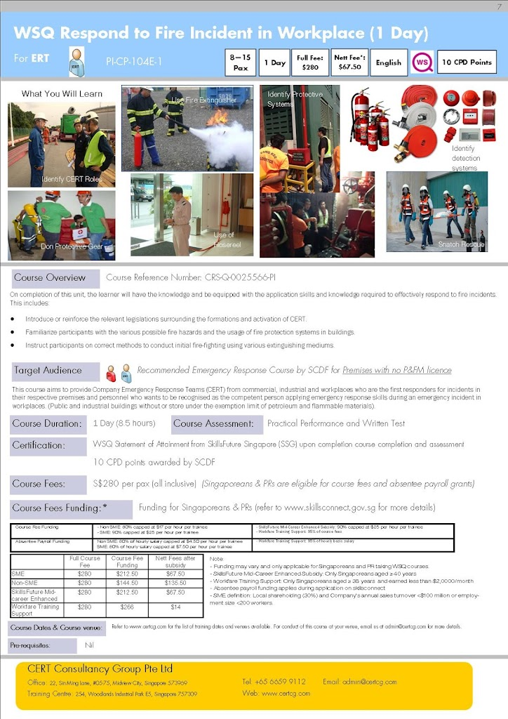Respond to Fire Incident in Workplace (1 day) by CCG