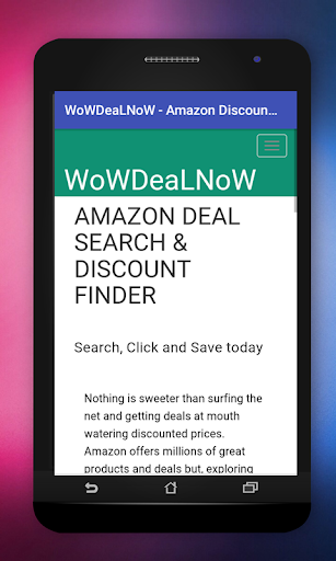 WoWDeaLNoW - Amazon Discount Finder 1.0 screenshots 1
