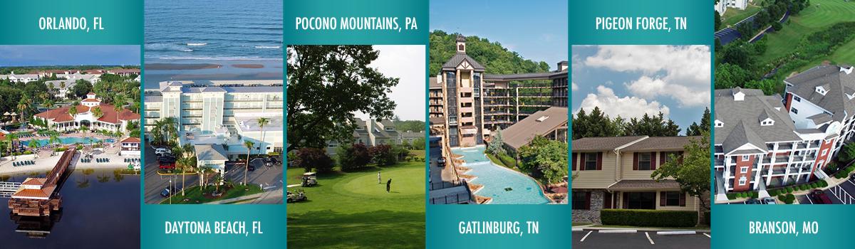 Exploria Resorts Locations