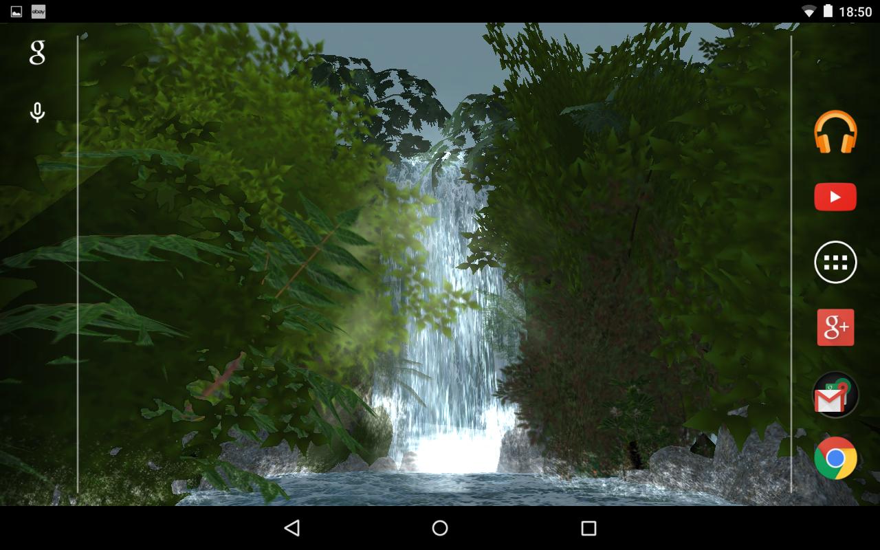 Jungle Waterfall 3D LWP PRO- tangkapan layar