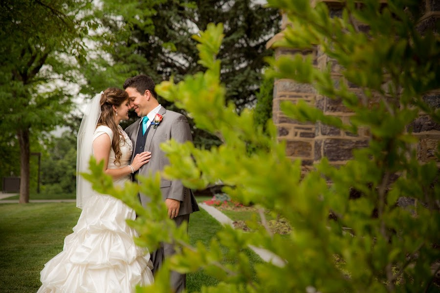 Through The Leaves by Glenn Pearson - Wedding Bride & Groom