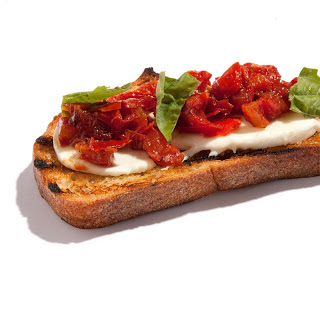 Roasted Tomato and Fresh Mozzarella Bruschetta