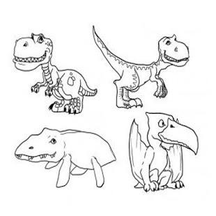 jak kreslit dinosourus - náhled