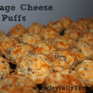 Sausage Cheese Puffs for Breakfast.