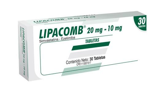 simvastatina + ezetimiba lipacomb 20/10mg