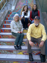 Photo: Our supporters from the Tile Heritage Foundation (http://tileheritage.org) take a break from admiring project artists Aileen Barr and Colette Crutcher's 148-step ceramic-tile mosaic on the Hidden Garden Steps (16th Avenue, between Kirkham and Lawton streets in San Francisco's Inner Sunset District) onsite Sunday, April 13, 2014.   For more information about the Steps, please visit our website (http://hiddengardensteps.org), view links about the project from our Scoopit! site (http://www.scoop.it/t/hidden-garden-steps), or follow our social media presence on Twitter (https://twitter.com/GardenSteps), Facebook (https://www.facebook.com/pages/Hidden-Garden-Steps/288064457924739) and many others.