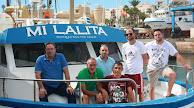 La tripulación de Mi Lalita en Roquetas de Mar