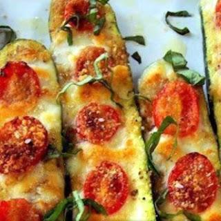 Wheat-Free 'Pizza' Baked Zucchini.