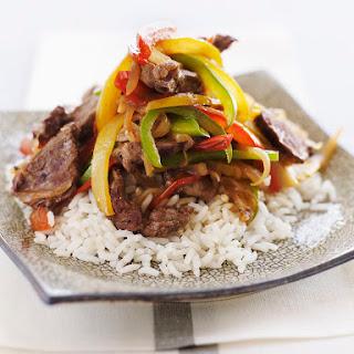 Slow Cooker Pepper Steak.