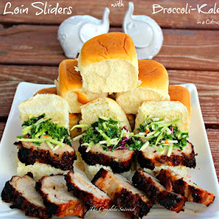 Pork Loin Sliders and Broccoli-Kale Citrus Slaw