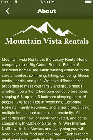 Mountain Vista Rentals- screenshot