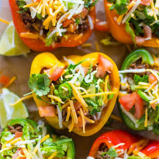 Skinny Low-Carb Bell Pepper Tacos.