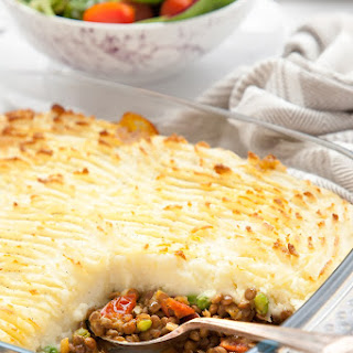 Spicy Lentil Vegetarian Shepherd's Pie.