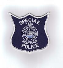 Photo: Alexandria Sanitation Special Police (Mis-spelled)