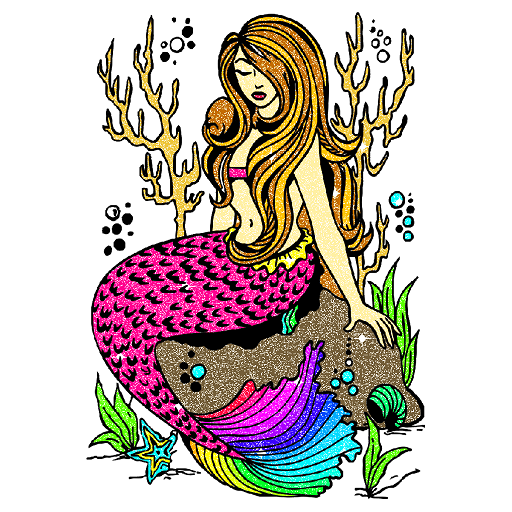 Mermaid Glitter Color by Number:Pixel Art Coloring Icon