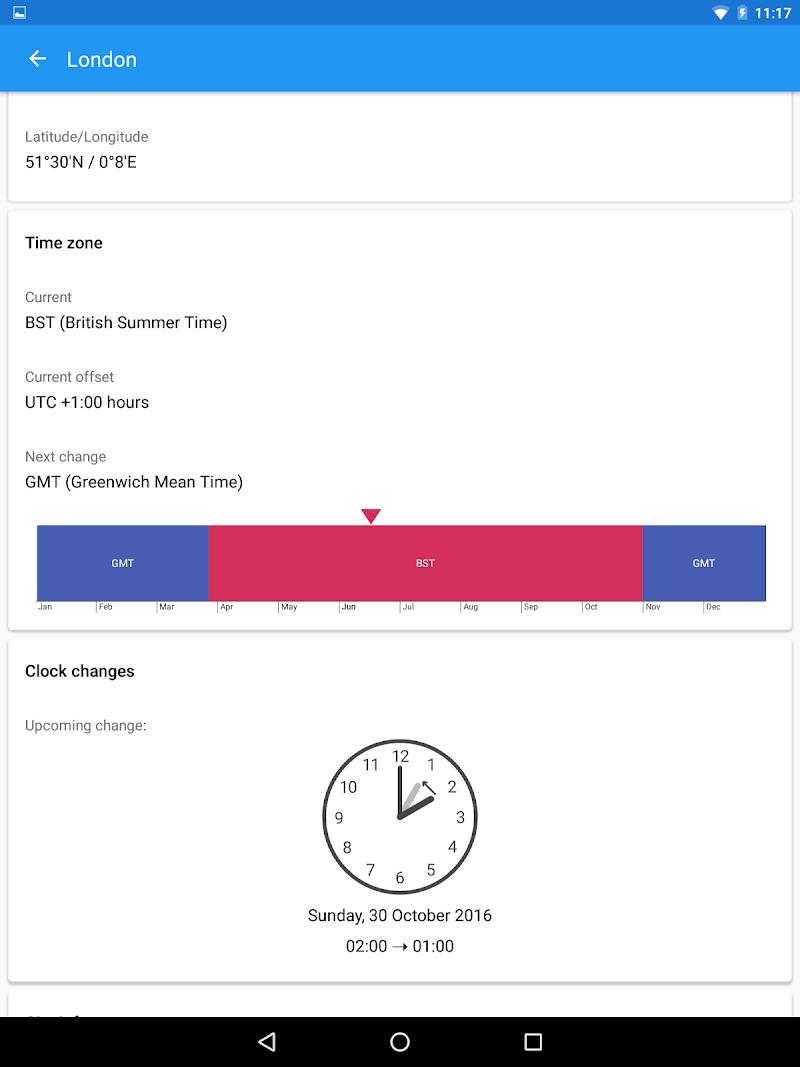 World Clock by timeanddate.com Screenshot 12