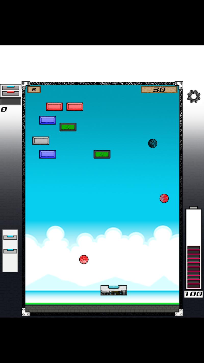 Скриншот Quebrando Tijolos - Break Bricks the Game