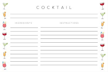 Free Signature Cocktail Template Customize With Picmonkey