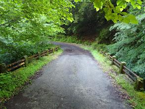 下山口の前に橋