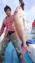 Photo: で、でかいっ!6kg近い真鯛キャッチ!