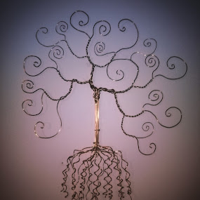 Fibinatree by Brian Boyer - Artistic Objects Other Objects ( copper, copper wire, rrcycle, forbiden math, wire tree )