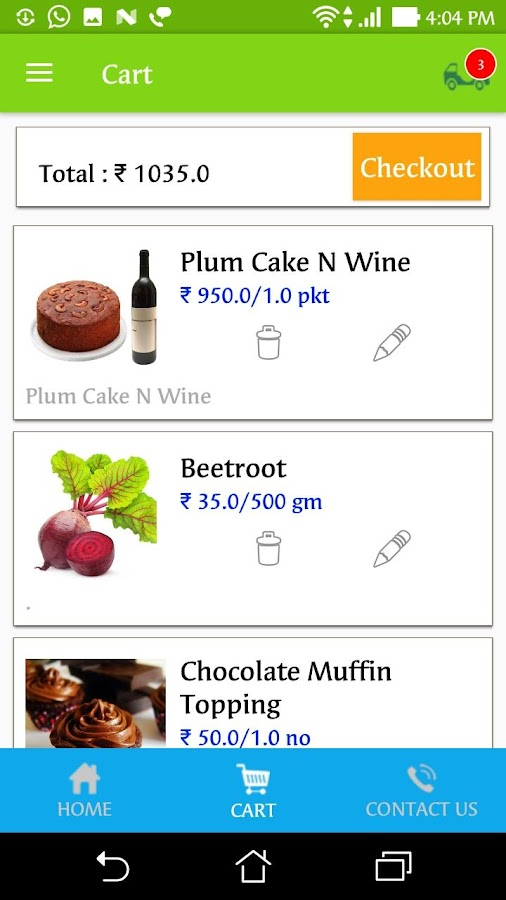 Onlinekochi Estore- screenshot